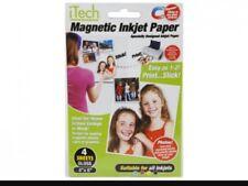 1xSHEETS GLOSSY MAGNETIC PHOTO PRINTER PAPER All Inkjets Fridge Card Invite  £1