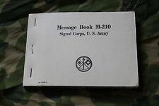 CARNET MESSAGE BOOK M-210 SIGNAL CORPS U.S ARMY  / NEUF WW2