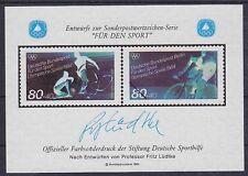 Bund Berlin Sporthilfe Entwurf Block Lüdtke Olympiade 1984 **, postfrisch, MNH
