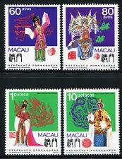 Macau Macao 1991 Chinesische Oper Opera Kostüme Musik Music 676-79 MNH