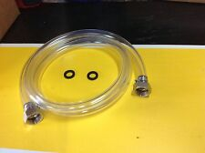 3/8 Clear Beer Line 5ft With 2 Hex Nut Assembly Coolers / Cold Plate