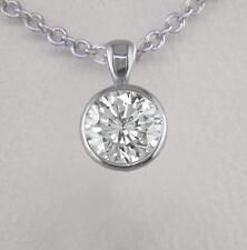 0.30ct Diamond & Platinum Pendant Certified D IF Exc Round Brilliant with Chain