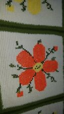 Knitted Embroidered Afghan
