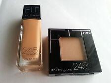 2 X Maybelline Fit Me Liquid Foundation and Pressed Powder 245 Medium Beige