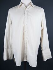 Turnbull & Asser Ivory Color French Cuff Dress Shirt 16.5 (EUR 42)