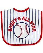 First Impressions Daddy's All Star Red White Blue Baseball Bib