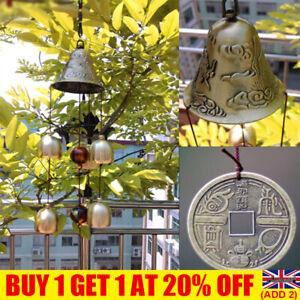 Wind Chimes Large Copper Bells Hanging Garden Yard Home Decor Outdoor UK