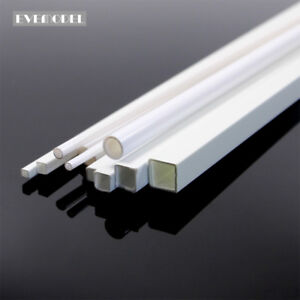 48pcs Styrene ABS Round and Square Rod Pipes Architectual Accessories ABS00