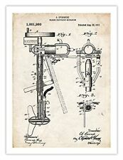 EVINRUDE OUTBOARD BOAT MOTOR INVENTION POSTER 1911 US PATENT ART RETRO PRINT ...