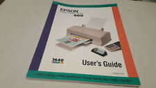 Epson stylus color 600 user's manual