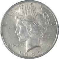 1923 Peace Dollar AU About Uncirculated 90% Silver $1 US Coin Collectible