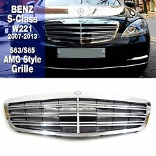 S63 S65 AMG Style Front Chrome Grille For Mercedes Benz 2007-2013 S Class W221