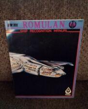 FASA Star Trek RPG - Romulan Ship Recognition Manual - 1985