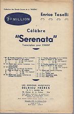 SERENATA (Pierre D'Amor - Enrico Toselli) # SPARTITO - Canto