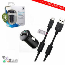 Original Genuine Sony Xperia X Performance Dual Xa Ultra Car Charger + Usb Cable
