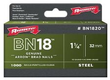 "ARROW 1-1/4"" Nail/Brad, For Arrow ET125 & ET200 Electric Nail Gun Mo BN1820CS"