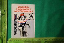 Alter Aufkleber Fahrradreifen VREDESTEIN Fietsband nr.1 voor Fietsland nr.1