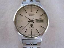 SEIKO 4623-8020 Linen Dial Double Calendar Quartz Vintage Watch around 1976's