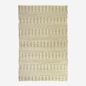 Boho Style Geometric Floor Rug Natural Woven Mat W180cm Cotton Hearth Carpet