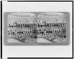 Reproduction,Interior of Colosseum,Rome,Italy,dens beneath the arena,c1904 4286