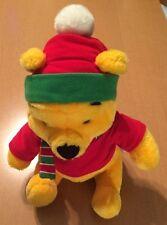 "Disney Arcotoys Winnie the Pooh Christmas Plush 11"""