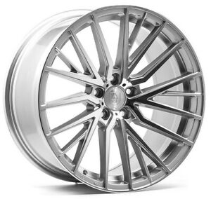 """20"""" Axe EX40 Alloy Wheels 5x120 WIDER REAR Silver MF fits VW Transporter T5 T6"""