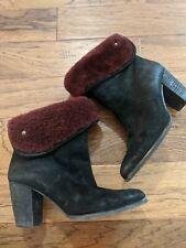 UGG Scarlett Sheepskin Cuff Ankle High Heel Boots Booties Women's Size US 7