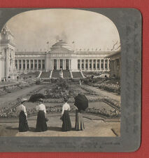 LOUISIANA PURCHASE EXPOSITION  1904 - GOVERMENT BUILDING -  VINTAGE STEREOVIEW