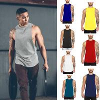 Men's Muscle Fitness Sleeveless Vest shirt Tank Top Body Building Sports T Shirt