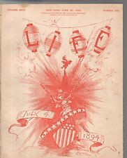 1894 Life June 28 - Teddy Roosevelt has bad manners? Harvard, Yale and Oxford