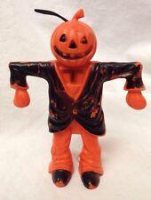 True Vintage Plastic Halloween Pumpkin/Jack-O-Lantern Scarecrow Candy Container
