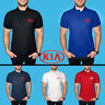 KIA Polo T Shirt COTTON EMBROIDERED Auto Car Logo Tee Mens Clothing Gift Casual