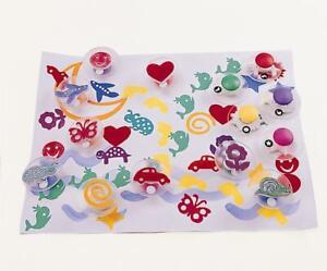 Easy Grip Imagination Stampers (x14) Multi Shape / Craft / Art / Home School