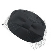 Womens Pillbox Hat Womens Fascinator wool Felt Wedding Race Royal Ascot A080