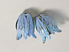 #831AA Patina Bead Caps Vintaj Leaf Petal Artsy Blossom Large 22mm Antiqued Boho