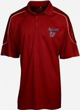 Washington Nationals Synthetic Polo Shirt 6xl Run Down Majestic Red MLB
