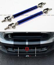 Blue Front Bumper Lip Splitter Strut Rod Tie Bar For Acura Integra TSX RSX DC