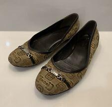 Women's Gucci  Ballet  Shoes HorseBit Logo Monogram Leather Size 37
