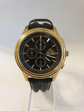 Astron Miyota Herren Uhr Chronograph 1/60 Min Day Date voll funktionsfähig Ø40