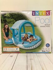 "New Intex Whale Shade Inflatable Pool, 83"" X 73"" X 43"", for Ages 2+ Shade Kids"