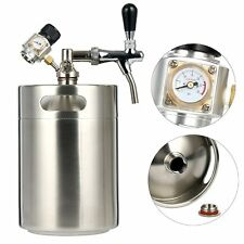 Stainless Steel Beer Dispensor 5L/170oz Mini CO2 RegulatorBeer Keg System Kit