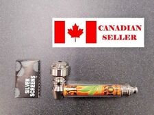 Metal smoking pipe +5 extra screens, Dry herb. NEW! Canadian Seller!
