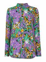 WHISTLES Ladies Simone Lilac Purple Silk Long Sleeve Shirt UK6 BNWT RRP169