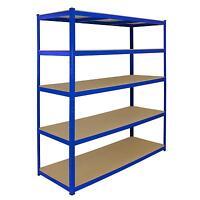 1 Bay Garage Storage Shed Shelving Metal Unit 5Tier 160cm Wide x 60cm Deep T-Rax