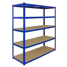 1 Bay Garage Storage Shed Shelving Metal Unit 5Tier 160cm Wide x 60cm Deep T-Rax