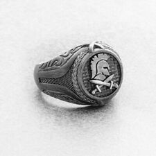 Spartan Helmet Ring, Silver Dragon Ring, Man Signet Ring, Unique Rings For Men