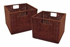 Winsome Wire Rattan Basket