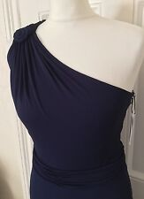 New ISSA Metra Crepe Jersey one Shoulder Gown