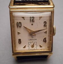 Old Lord Elgin 670 14K Gold Men's Presentation Wristwatch  Fisher Body Div. 1951