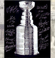 NHL Europeans Stanley Cup Champions Autographed 8x10 Signed by 11